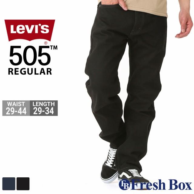 Levi's リーバイス 505 ブラック ジーンズ メンズ ストレート 大きいサイズ REGULAR FIT STRAIGHT JEANS levis505 (USAモデル)