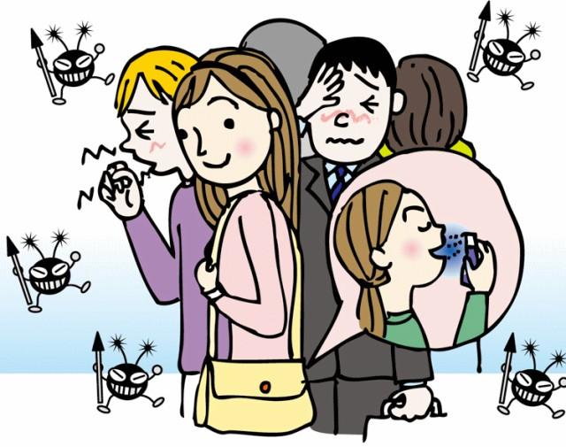 何かあやしい人混みの中でも。くしゃみをしている人の近くにいても安心