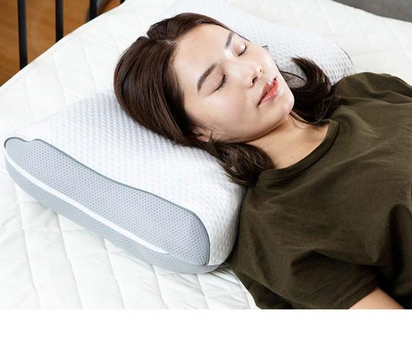 枕まくらマクラピローハニカムジェル構造ハニカムジェル二層ハイブリッド枕体圧分散通気性リバーシブル寝具ハニカムジェル二層ハイブリッド枕/フロートホワイト/グレークリアグローブ