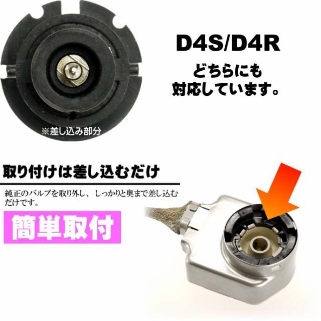 D4C/D4S/D4R HIDバルブ純正交換用2本入 35W 3000K/4300K/6000K/8000K/10000K/12000Kバーナー