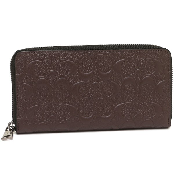 Black NWT Coach Men/'s Wallet F58113 Accordion Zip Around Wallet