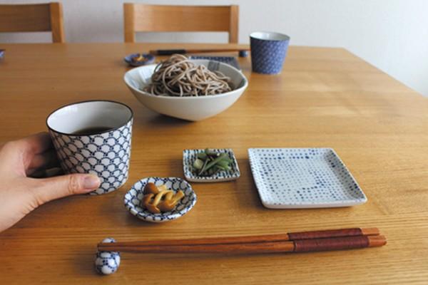 印判 蕎麦猪口 おしゃれ 陶器 湯呑 食器