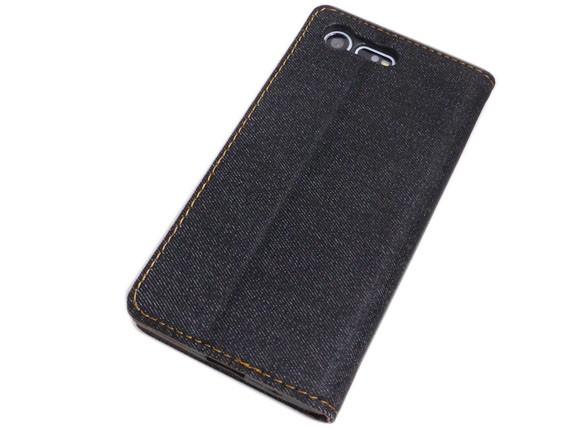 SO-02J手帳型 スタンド カード入れポケットデニムケース