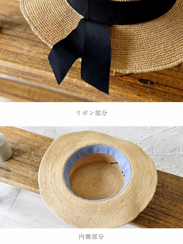 【odds オッズ】RAFFIA  KANKAN HAT / ラフィア リボン カンカン帽