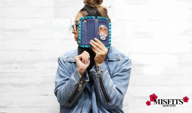 個性的な手帳型iPhoneケース☆iPhone6 iPhone6s ケース 手帳型 MISFITS アクター スマホケース ハードケース アイフォン6 カバー 耐衝撃 iPhoneケース おしゃれ 個性的 チェーン付き ミラー 鏡 原宿系 ブランド ファーフリル
