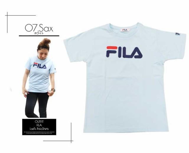 FILA フィラ Tシャツ メンズ レディース 半袖 かっこいい 可愛い スポーツ ブランド 人気 ペアルック カップル おそろい 姉妹 親子 シンプル 白 ホワイト 黒 ブラック ネイビー グレー プリント 夏