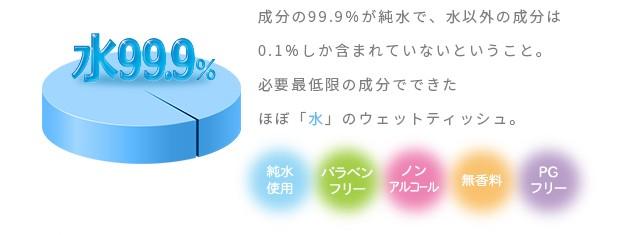 純水99.9%手口ふきウェットティッシュ特長