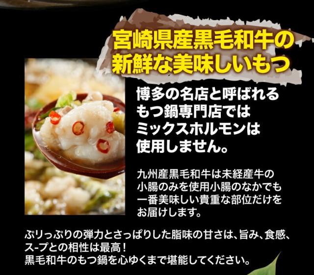 宮崎県産黒毛和牛の新鮮な美味しいもつ