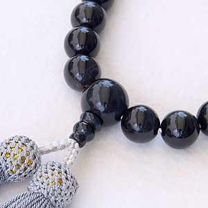 紺トラメ:タイガーアイ:念珠:数珠:12mm:片手用:男性用