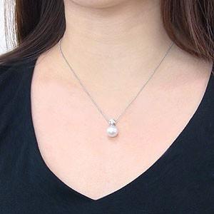 南洋白蝶真珠:ペンダントトップ(ヘッド):真珠の大きさ:10mm:ピンクホワイト系:プラチナ:PT900