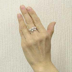 真珠 指輪 あこや本真珠 パール リング ダイヤモンド K18WG ホワイトゴールド