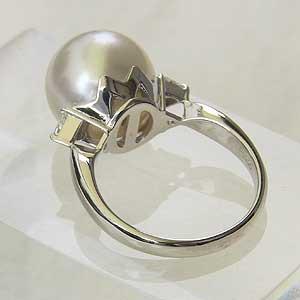 南洋白蝶真珠:ダイヤモンド:リング:PT900:プラチナ900