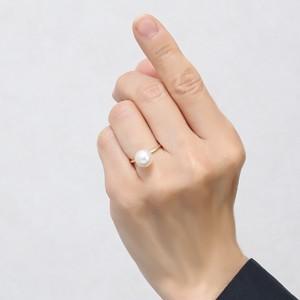 パールリング 真珠指輪 K18 ゴールド あこや本真珠 9ミリ K18 ゴールド