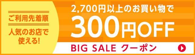 ビッグセール300円OFF