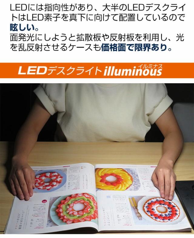 柔らかい面発光 - LEDデスクライト lluminous(イルミナス)