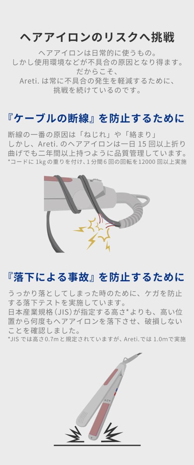 プロフェッショナルマイナスイオンカールアイロン30mmAreti(アレティ)i1850GDヘアアイロン/海外対応海外兼用