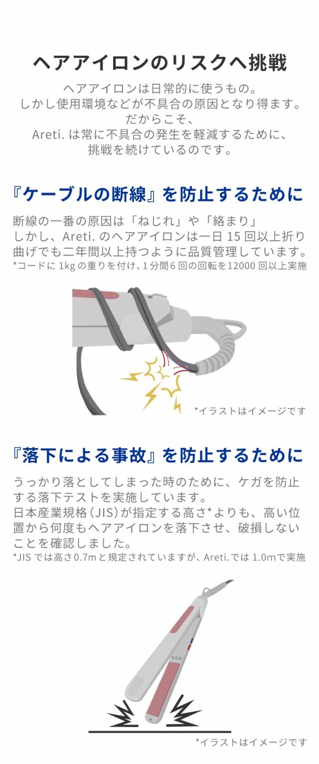 極細プロフェッショナルマイナスイオンストレートアイロン15mmAreti(アレティ)i628BLヘアアイロン/海外対応海外兼用