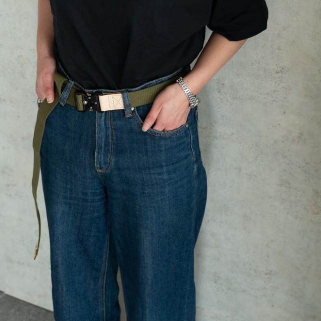 nakota ハブバックルキャンバスベルト メンズ レディース ワンタッチ フリーサイズ カジュアル 無地 日本製