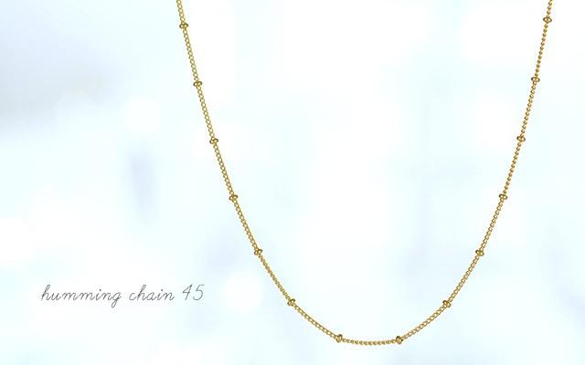 K18 ネックレス humming chain