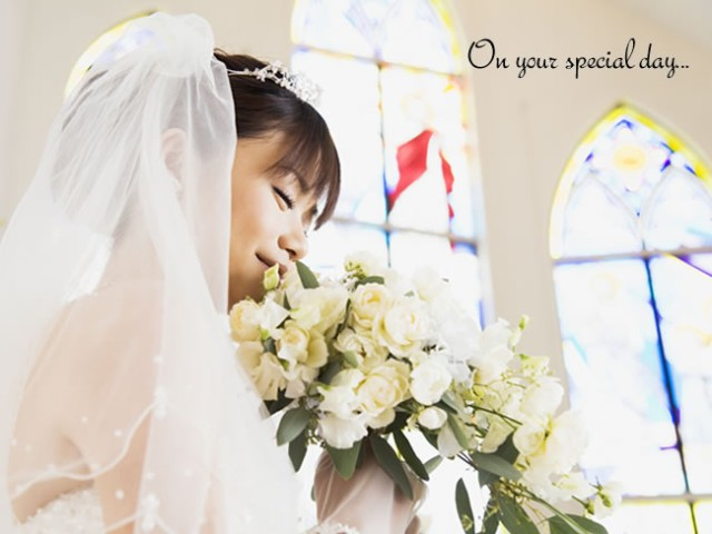 On your special day...