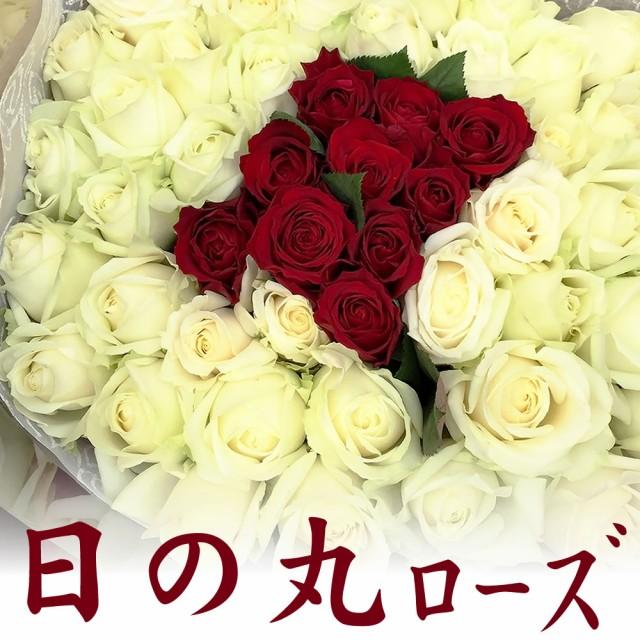 赤と白のバラでフレッシュ