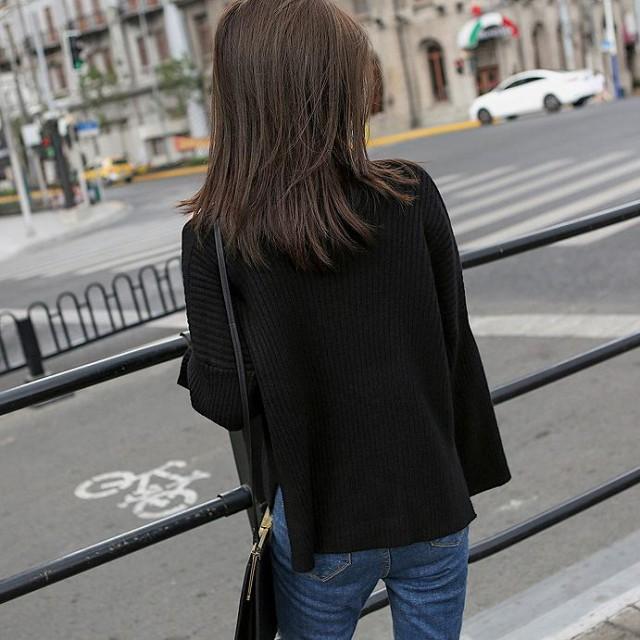 レディース ニット ショルダーカット セーター 長袖 トップス ホワイト グレー ブラック 白 灰色 黒 フリーサイズ 送料無料
