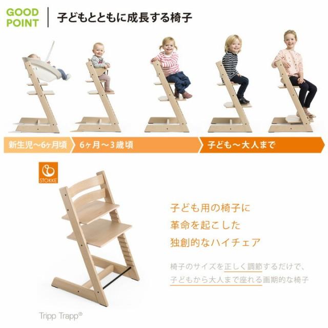 トリップトラップ オーク子どもとともに成長する椅子