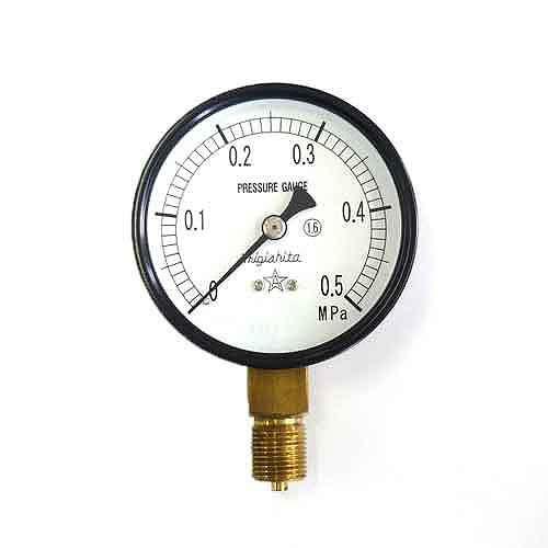 右下精器・汎用圧力計A75・G3/8・S−31・0.5MPA・電動工具・エアーツール・圧力計・機器・DIYツールの画像