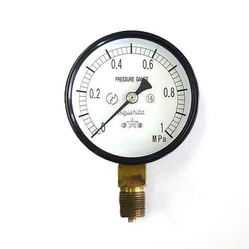 右下精器・汎用圧力計A75・G3/8・S−31・1.0MPA・電動工具・エアーツール・圧力計・機器・DIYツールの画像