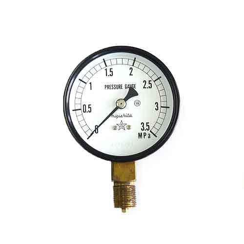 右下精器・汎用圧力計A75・G3/8・S−31・3.5MPA・電動工具・エアーツール・圧力計・機器・DIYツールの画像