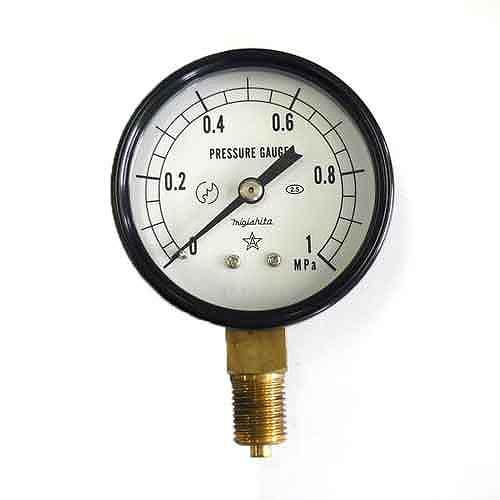 右下精器・汎用圧力計A60・G1/4・S−21・1.0MPA・電動工具・エアーツール・圧力計・機器・DIYツールの画像