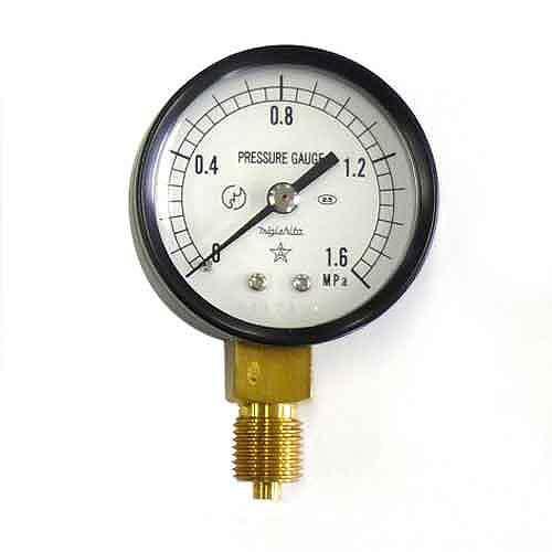 右下精器・汎用圧力計A50・G1/4・S−11・1.6MPA・電動工具・エアーツール・圧力計・機器・DIYツールの画像