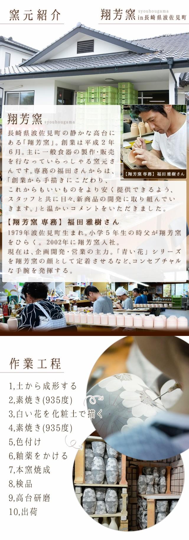 窯元紹介。長崎県波佐見町の静かな高台にある『翔芳窯』。主に一般食器の製作・販売を行なっている窯元さんです。