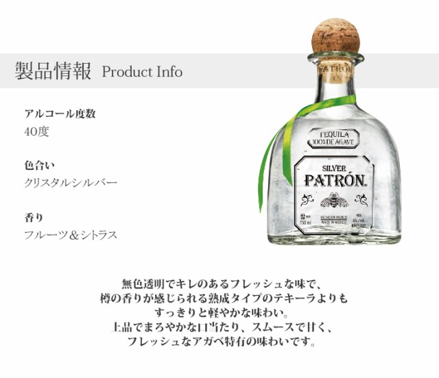 パトロン シルバー製品情報