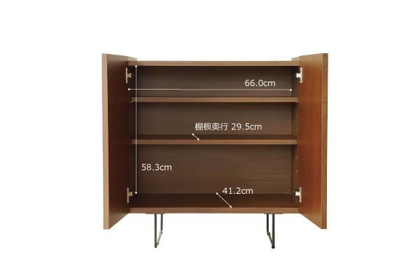 画像size2:サイドボード リビングボード サイドキャビ ウォールナット リビング収納 FAX台 寝室用 収納家具 日本製