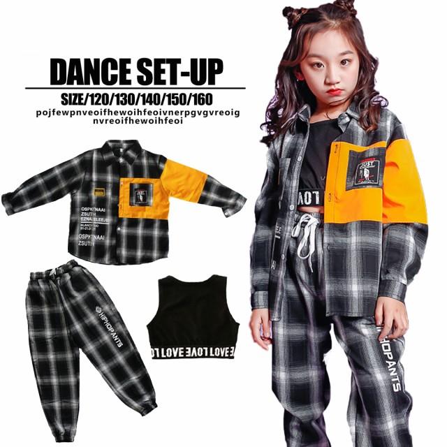子供 ダンス 衣装 チェック セットアップ