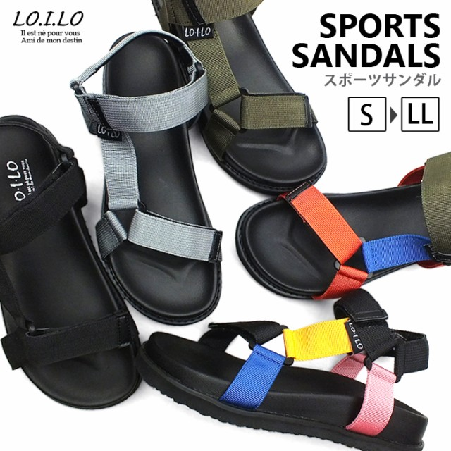 【今だけ送料無料】LO.I.LO-ロイロ- 機能性とデザイン性を兼ね備えた夏の定番!ベルクロデザインのスポーツサンダル。キレイめからカジュアルまで幅広くマッチ!スポサン スポーツサンダル フラット ビーサン ビーチサンダル レディースシューズ 婦人靴 靴