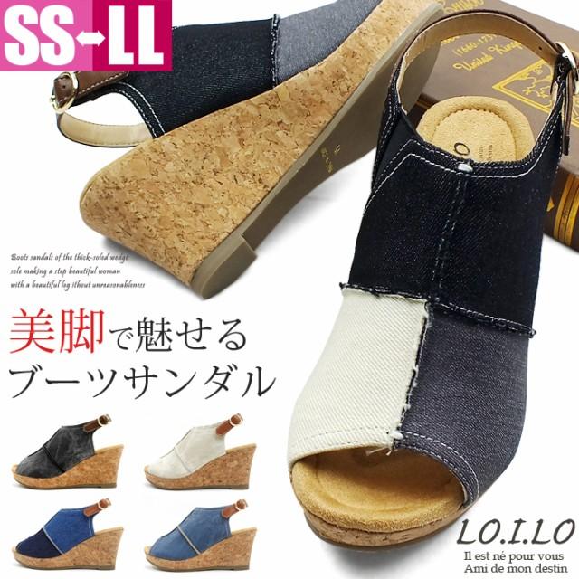 バックストラップ、オープントゥで開放感のあるデザインのブーツサンダル。内側はサイドゴアで脱ぎ履きも楽々!ふかふかのクッションインソールで快適な履き心地♪レディース サンダル ブーサン ストラップ 厚底 プラットフォーム ウエッジ ウェッジ 靴 婦人靴