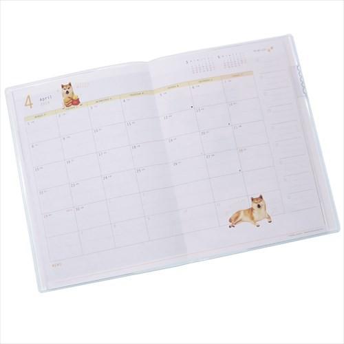 柴犬だいふく B6 マンスリー 手帳 2019 2019年 月間 ダイアリー いぬ アニマル スケジュール帳 平成31年手帖 メール便可
