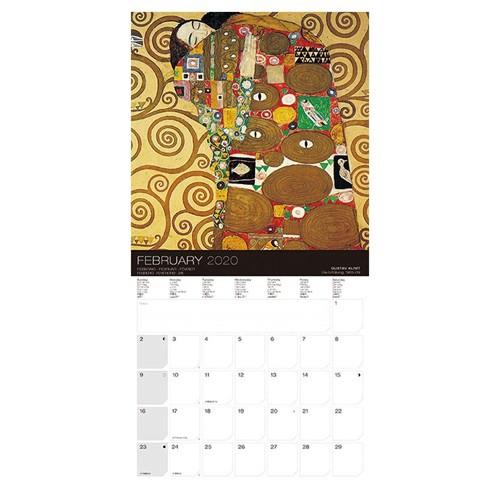 クリムト 2020年 カレンダー 壁掛け 輸入版 60×30cm アート 名画 令和2年暦