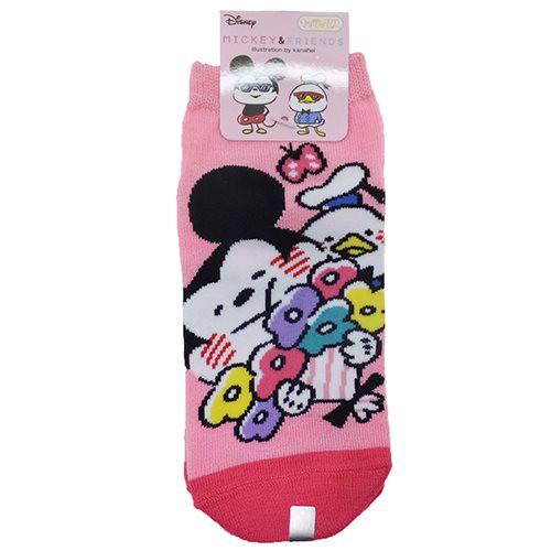 ディズニー×カナヘイ 女性用靴下 レディースソックス フラワー ディズニー キャラクターグッズ メール便可