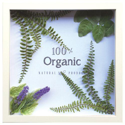 取寄品 送料無料 カフェ インテリア オーガニックフレーム キャンバス リーフ アート パネル 100% Organic