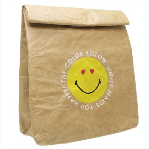 スマイリーフェイス 保冷バッグ 紙袋風ランチバッグ HAPPY SMILEY FACE キャラクター グッズ