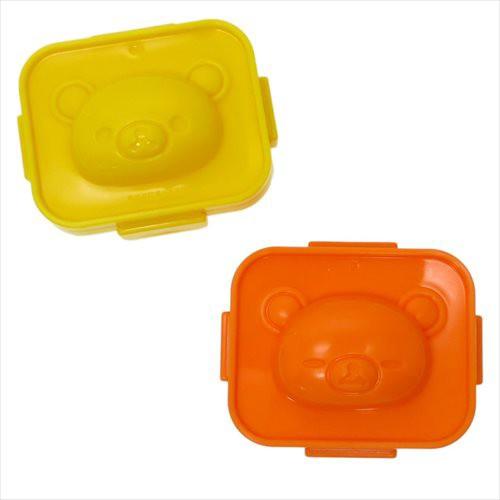 リラックマ キャラ弁雑貨 ゆで卵押型2個セット サンエックス ランチ雑貨 キャラクター グッズ