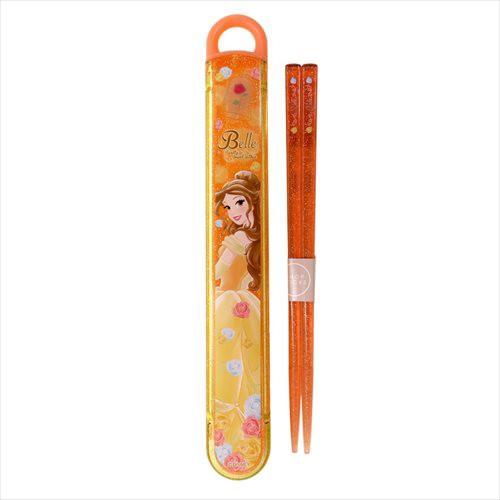 美女と野獣 ベル おはしセット 食洗機対応お箸&スライドはしケース 18 ディズニープリンセス 16.5cm キャラクター グッズ メール便可