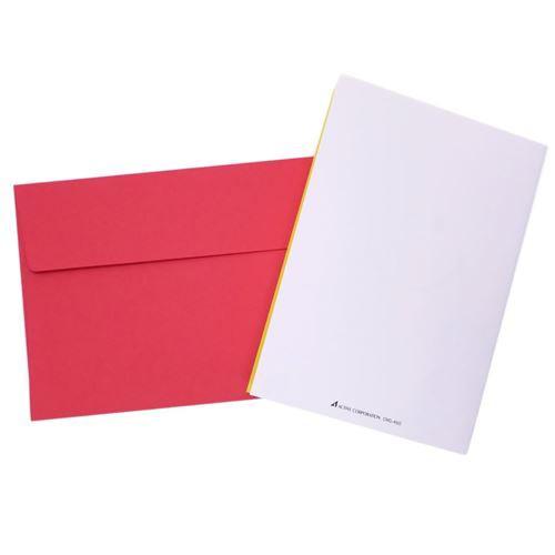 スマイリーフェイス グリーティングカード 封筒付きクリスマスカード 460 窓あき Smiley Face かわいい キャラクター グッズ メール便可
