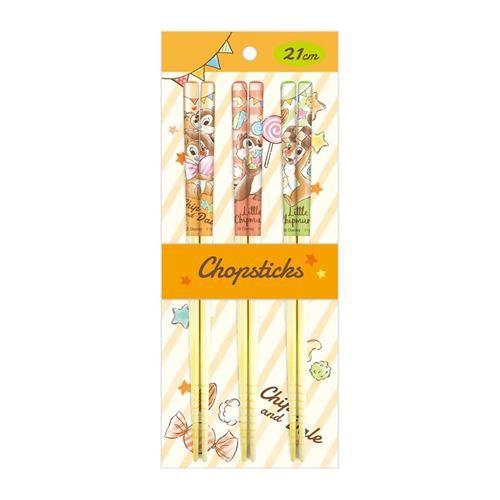 チップ&デール 箸 21cm 竹箸 3Pセット ディズニー 新生活準備 キャラクター グッズ メール便可