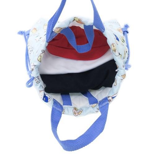 すみっコぐらし 体操服かばん キルト ナップサック ブルー サンエックス 31×39.5cm キャラクター 雑貨