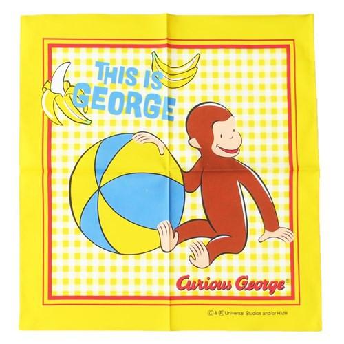 おさるのジョージ ランチクロス コットンナフキン 2019年新入学雑貨 43×43cm キャラクター グッズ メール便可