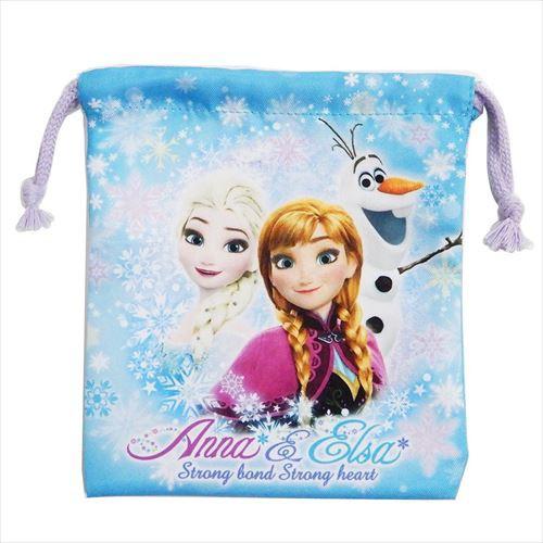 アナと雪の女王 巾着袋 きんちゃくポーチS 2019年新入学雑貨 ディズニー 18.5×20.5cm キャラクター グッズ メール便可